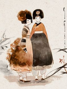 Hanbok Korea style with a modern twist