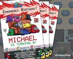 Among Us birthday invitation, Gamer party invite, Among Us, Gaming Birthday, Zoom gaming party, Google Meet party invitation Printable Invitations, Birthday Invitations, Birthday Games, Text Color, Party Games, Card Stock, My Photos, Finding Yourself, Messages