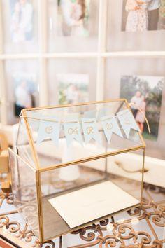 Wedding card box; gold terrarium www.tradeandunion.etsy.com