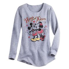 Mickey and Minnie Mouse Long Sleeve Thermal Tee for Women   Disney Store