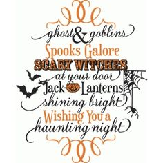 Halloween Words Set SVG scrapbook cut file cute clipart files for silhouette cricut pazzles free svgs free svg cuts cute cut files Halloween Quotes, Halloween Signs, Halloween Cards, Fall Halloween, Halloween Vinyl, Halloween Decorations, Halloween Images, Halloween Rhymes, Halloween Phrases