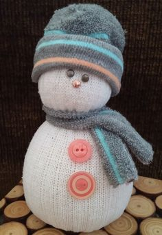 Handmade Sock Snowman by MadebyMyrtle on Etsy