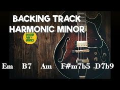 Play Along Harmonic Minor Backing Track in Em Minor Scale, Backing Tracks, Cool Guitar, Cool Words, It Works, Play, Fun, Fin Fun