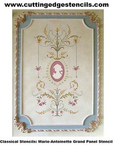 Marie-Antoinette Grand Panel Stencil | Flickr - Photo Sharing!