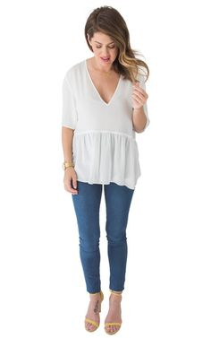 Pretty In Peplum Blouse Top - PRIVILEGE