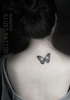 butterfly tattoo by. RAONZENA tattoo www.raonzena.co.kr