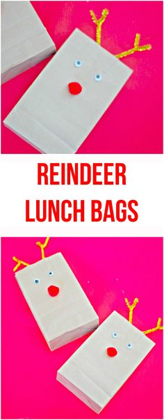 Reindeer Lunch Bags