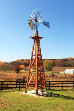 Wood Tower Windmill | Sand Creek Post & Beam  https://www.facebook.com/SandCreekPostandBeam
