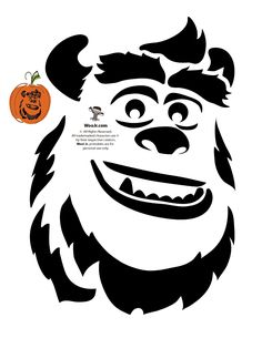 photo regarding Disney Pumpkin Carving Patterns Free Printable identify 378 Great Halloween Stencils pics within just 2019 Halloween