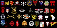 Special forces military badges