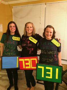 Price is Right contestants! Super easy costume, create your own shirt for an added effect.