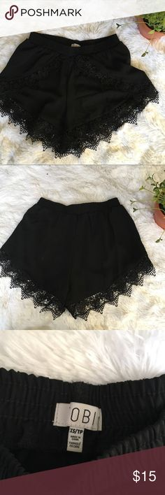 Tobi black Lace shorts xs flowy Please let me know if you have any questions Tobi Shorts