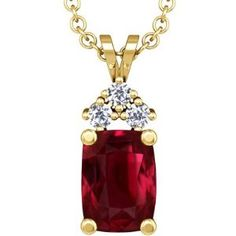 This thing is AMAZING, just look at it!....18k yellow gold cushion cut ruby and round diamond pendant.....$117,383.00.....amazon.com......wow!!!