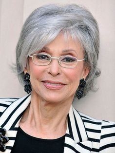 Short white hairstyles for older women with glasses - Cool & Trendy Short Hairstyles 2014