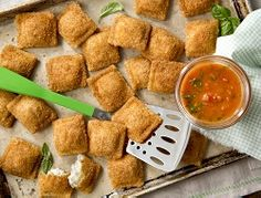 Toasted Ravioli with Simple Summer Dipping Sauce. -  presented by Farm Rich Snacks #sponsored
