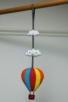 hot-air ballon felt Could make a cute now holder