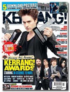 MARS' Wins On the Cover of Kerrang! Thirty Seconds, 30 Seconds, Magazine Front Cover, Limp Bizkit, Alter Bridge, The Verdict, Asking Alexandria, Amy Lee, Evanescence