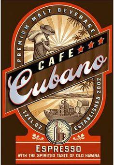 Beverage Labels Illustrated by Steven Noble. by Steven Noble, via Behance Coffee Shops, Café Cubano, Sun Cafe, Havana Nights Party Theme, Cuban Restaurant, Cuban Coffee, Coffee Label, Pop Up Market, Cafe Art