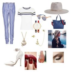 """The Hamptons outfit. Maritime and classic!"" by ingeborghg on Polyvore featuring Loro Piana, Charlotte Russe, Zimmermann, Topshop, Tommy Hilfiger, Ray-Ban, LC Lauren Conrad, Bling Jewelry and Daniel Wellington"
