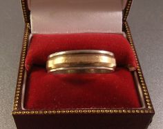 Vintage Sterling Gold Wedding Band Ring Mans by LynnHislopJewels