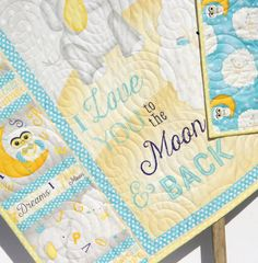 Baby Quilt I Love You To The Moon And Back by SunnysideDesigns2