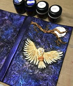 Creative Paperclay®️️ air dry modeling material design team create this tutorial for a book cover with this amazing owl