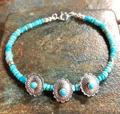 A personal favorite from my Etsy shop https://www.etsy.com/listing/581762792/turquoise-bracelet-sleeping-beauty