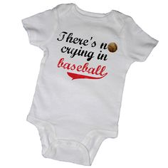 There's NO CRYING in BASEBALL Bodysuits Baby Shower by EmbryLu