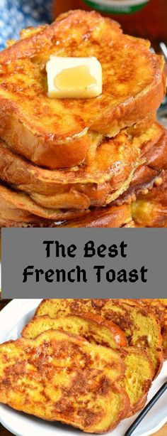 The Best French Toast Recipe - Natalie Recipes What's For Breakfast, Breakfast Items, Breakfast Dishes, Breakfast Recipes, Best French Toast, French Toast Recipes, French Bread French Toast, French Toast Muffins, Snacks