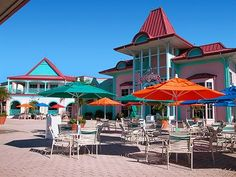 Disney S Caribbean Beach Resort Outside The Food Court Near Pool