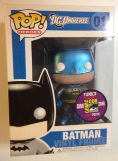 Batman (Blue Metallic Version) #01 Pop! Heroes Vinyl Figure