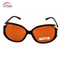 75e4706034b SCOBER   Butterfly Custom Made Nearsighted Minus Prescription Black Frame  Green Lens Double Beam Polarized