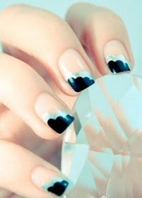 blue and black nail color