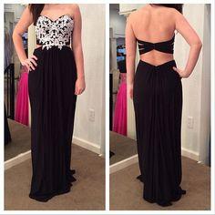Black Prom Dress,Long Prom Dress,Sweetheart Prom Gown,Backless Prom Dress,Appliques Prom Dress,Sexy Evening Dress