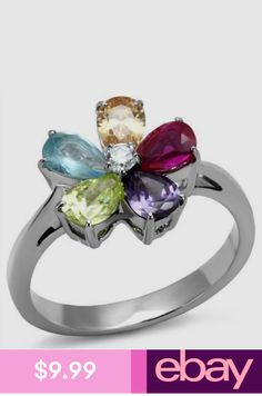 Gorgeous Oval 7x5mm Top Fancy Colors Tourmaline 925 Sterling Silver Ring Size 6 Attractive Fashion Gemstone