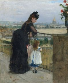 Berthe Morisot (1841-1895), Femme et enfant au balcon,1872. Oil on canvas. 24 x 19¾in (61 x 50 cm). This work was offered in the Impressionist & Modern Art Evening Sale on 28 February at Christie's London and sold for £4,085,000