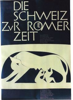 Original-vintage-poster-ROMAN-PERIOD-IN-SWITZERLAND-1957-Hofmann
