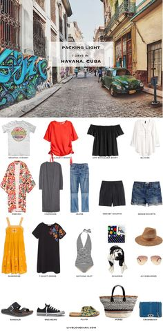 What to Pack for Havana Cuba Packing Light List #packinglist #packinglight #travellight #travel #livelovesara