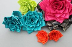 DIY Duct Tape Rosettes by brit.co #DIY #Duct_Tape #Rosette