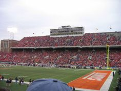 Illini Stadium. Champaign, IL. The current home to the IL State Football Championships (all 8 levels).