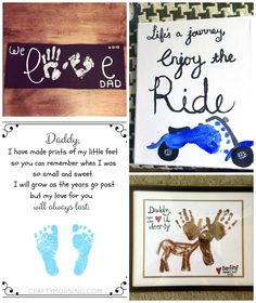 Father's Day Footprint Gift/Craft Ideas from the Kids - Crafty Morning Fathers Day Art