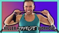 20-Min KILLER Jump Rope HIIT Cardio Strength Interval Workout :: Jump Ro...