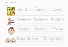 Fitxes de cal.ligrafía en català lletra h Preschool Worksheets, Album, Cursive Letters, Writing Folders, Index Cards, Preschool Printables