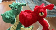 Amigurumi To Go: Fierce or Sleepy Dragon Part Two ~ Stuffing and Shaping The Pieces