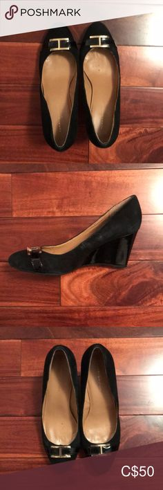 Shop Women's Tommy Hilfiger Black size Wedges at a discounted price at Poshmark. Only have worn it for a few times. Tommy Hilfiger Shoes, Plus Fashion, Fashion Tips, Fashion Trends, Black Wedges, Office Wear, Womens Shoes Wedges, Wedge Shoes, Comfy