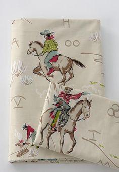 Retro cowboy sheets Vintage Cowboy Nursery, Vintage Western Decor, Vintage Horse, Ella Home, Cowboy Bedroom, Egyptian Cotton Sheets, Little Cowboy, Cowboy Baby, Kids Bedding Sets