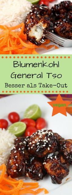 """Knuspriger Blumenkohl """" General Tso"""" – Vegan.Heute gibts knusprigen Blumenkohl General Tso! Eine vegane Köstlichkeit aus der chinesisch-amerikanischen Küche! Perfektes Party Food zum Teilen!"""