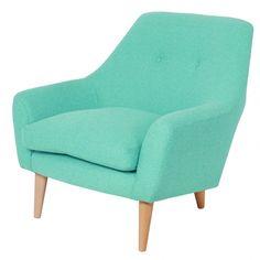 Pop colour for nursing chair Retro Armchair, Retro Sofa, Velvet Armchair, Two Tone Furniture, Unique Living Room Furniture, Furniture Chairs, Desk Chairs, Lounge Chairs, Furniture Ideas