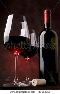 Red Wine In Two Glasses On A Red Background Stock Photo 83564758 : Shutterstock