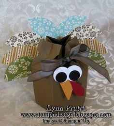 Stamp-n-Design: Candy Wrapper Box - Turkey